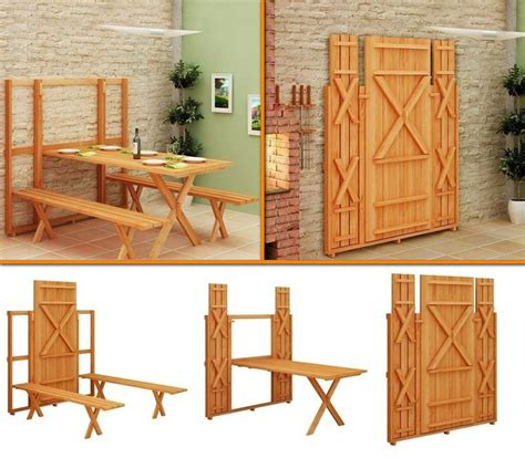 fold out bench fold out picnic table and bench genius pinterest