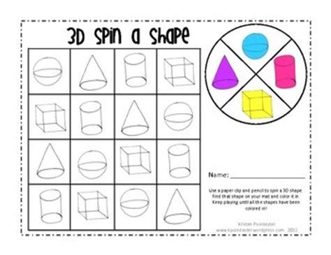 printable 3d shapes games for kindergarten shape games games for kindergarten and 3d shapes on pinterest
