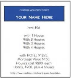 Monopoly Property Cards Template by Print Your Own Monopoly Property Cards