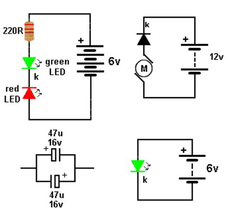 simple led circuit without resistor 2k2 resistor means 28 images basic electronics 1a salt taster circuit diagram eeweb