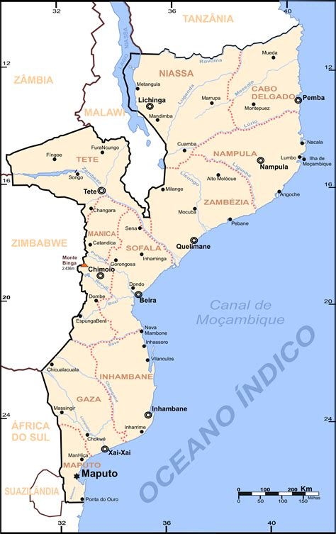 map of mozambique cities file mozambique map cities png