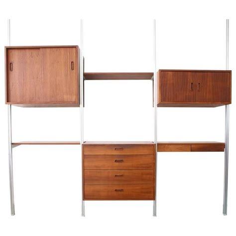 Desk Wall System by Three Bay George Nelson Omni Storage System Desk Wall Unit