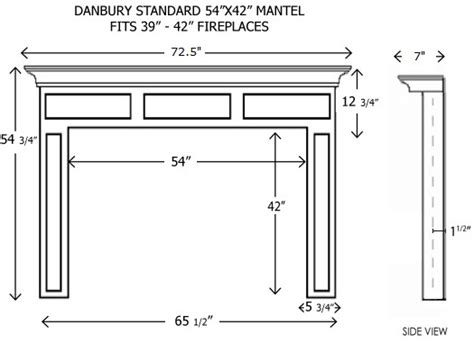 Fireplace Mantel Dimensions by Arts And Crafts Fireplace Mantel Dimension Sketch