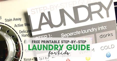 laundry design guide step by step laundry guide for kids free printable