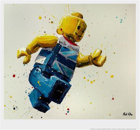 lego painting paul oz explosive portrait artist at imitate modern