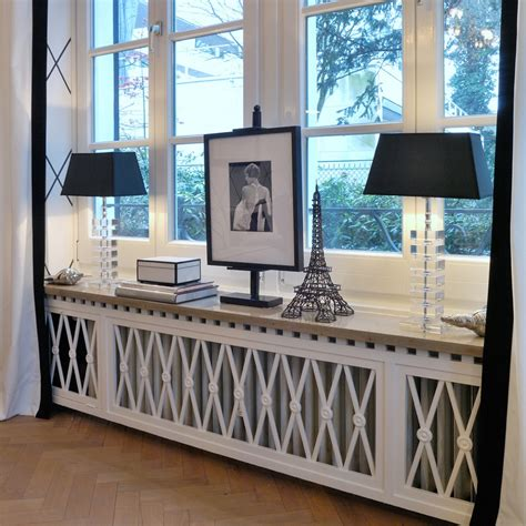 media room decor accessories this is a stunning way to disguise a radiator and showcase