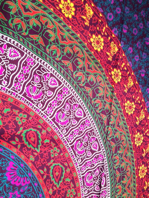Amazon.com   Multi colored Mandala Tapestry Indian Wall Hanging, Bedsheet, Superior Quality