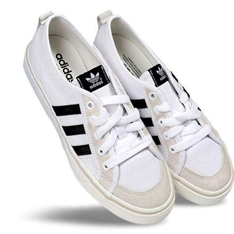 adidas nizza lo sneakers af6287 originals casual shoes white black ebay