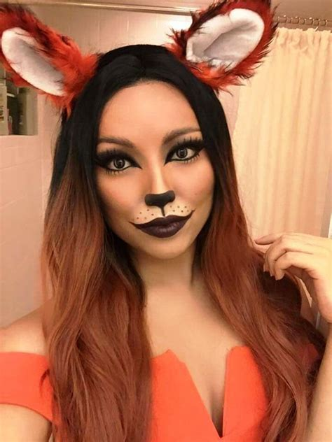 halloween transformation cute fox makeup ideas