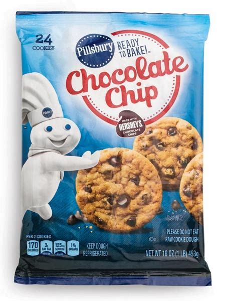 pillsbury ready to bake chocolate chip cookies with
