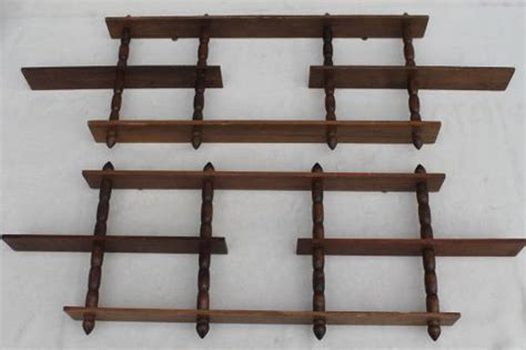 vintage wooden display shelves for miniatures tiny
