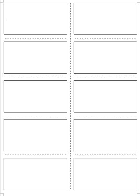 card sort template 4x2 four ms word templates for your own material