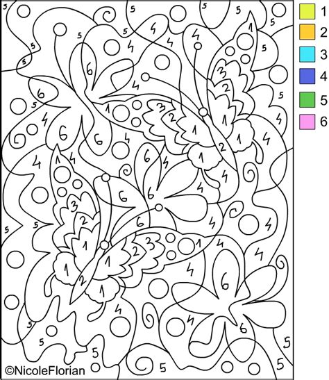 nicole s free coloring pages color by number coloring pages