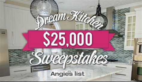 Dream Kitchen Sweepstakes 2015 - angie s list 25 000 dream kitchen sweepstakes 9 30 15 1pp18 sweeties sweepstakes