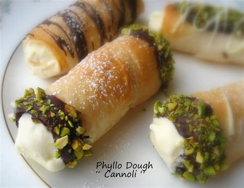 home cooking in montana phyllo dough quot cannoli quot filled with vanilla ice cream