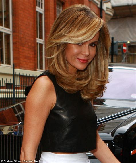 blonde that just got her hair cut amanda holden heads to britain s got talent auditions with