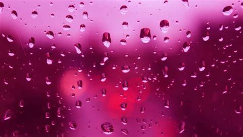 wallpaper rain pink rain drops on window glass bokeh lights traffic lights in
