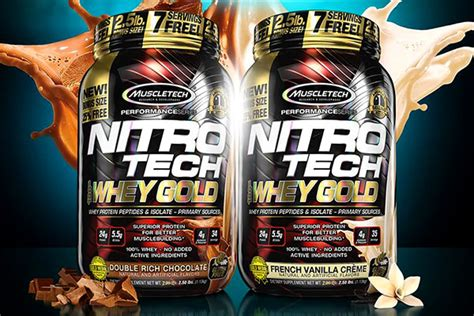 Muscletech Nitrotech Whey Gold 6lb cus protein launches nitro tech whey gold for 6 cheaper