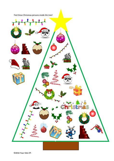 christmas tree ot printable pack