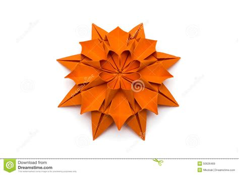Origami Dahlia - origami dahlia flower stock photo image 50626469
