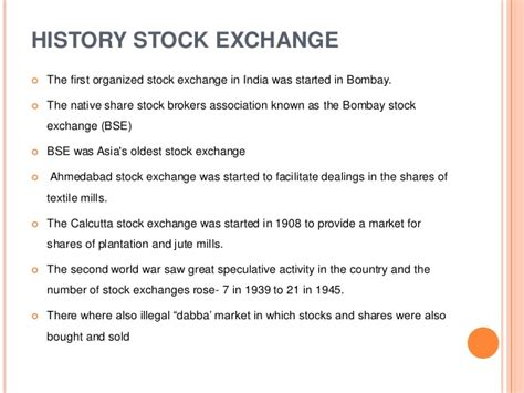 Mba In Stock Market In India by Stock Exchange In Indian Capital Market Icm