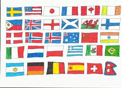 Flags Of The World To Draw   flags of the world 1 by katarinathecat on deviantart