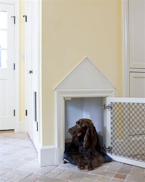 built in kennel stylish built in beds and kennels driven by decor