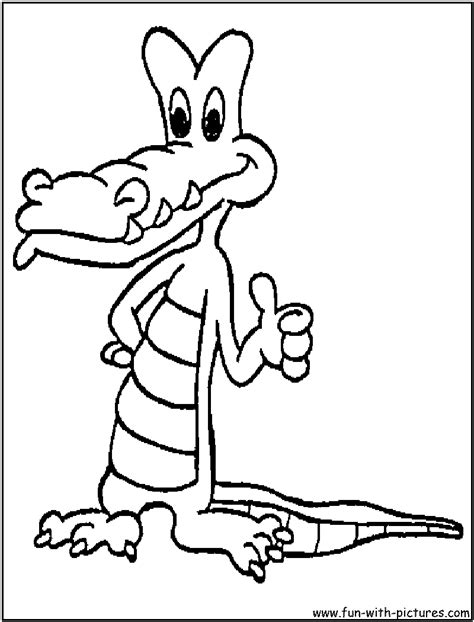 cartoon alligator coloring page free coloring pages of alligator outline