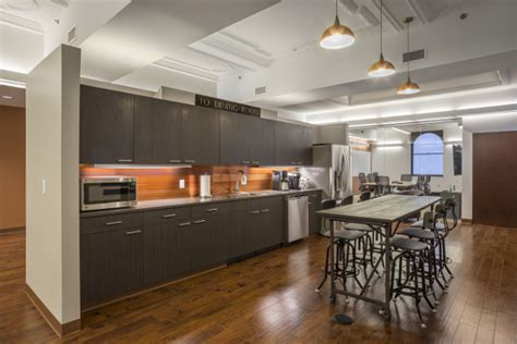 Kitchen In Office Building The Christman Co Opens Stunning Office In The Fisher
