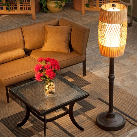 tonga outdoor patio floor lamp  hayneedle