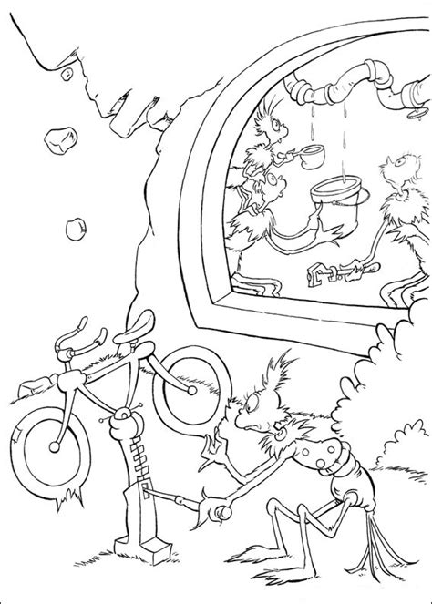 fish coloring pages dr seuss character coloring pages