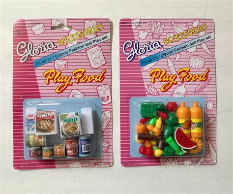 food accessories gloria doll house furniture set of 2 play food accessories set size ebay