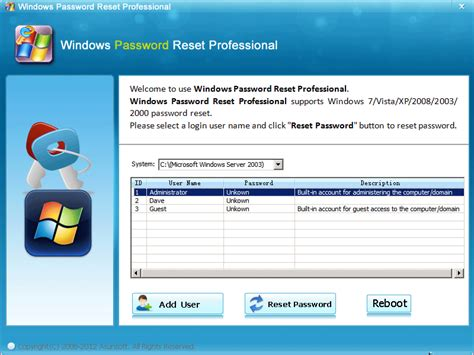 asunsoft windows vista password reset professional asunsoft windows password reset pro shareware version 4 0