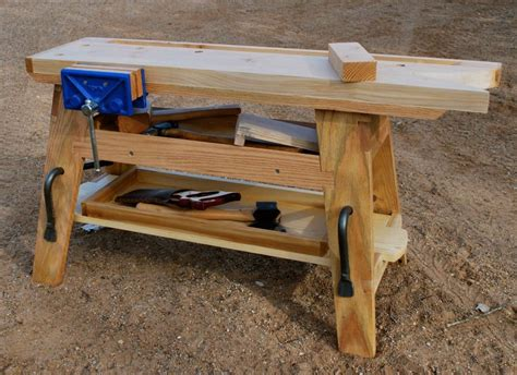 portable woodworking bench a portable saw bench mini workbench by george crawford