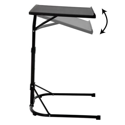 Folding Black Laptop Table Adjustable Height Portable Adjustable Height Laptop Stand For Desk