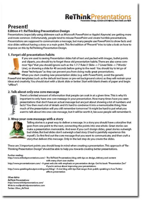 Excellent Presentations Paper Handouts Presentation Handout Templates