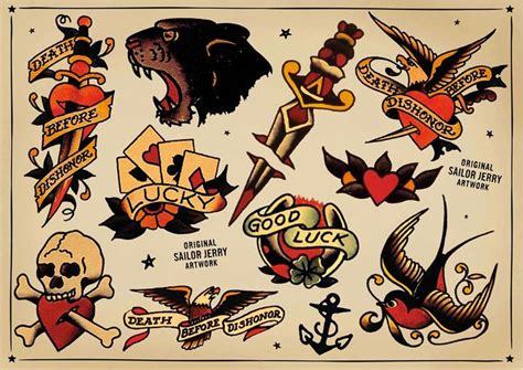 tattoo old school pdf sailor jerry flash tattoos pinterest style ink and