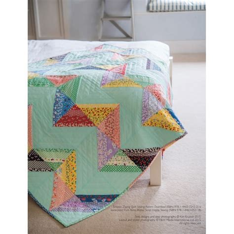 Zig Zag Sewing Pattern | easy scrappy zig zag quilt sewing pattern