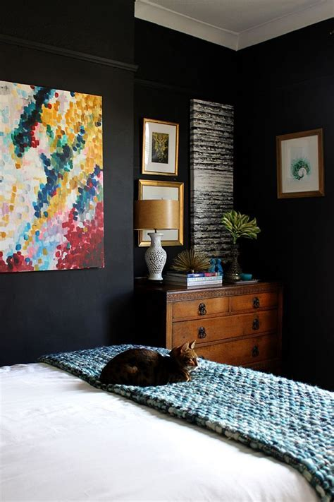 room with black walls best 25 black bedroom walls ideas on