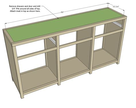 Living Room And Kitchen Design by Triple Console Cabinet Woodworking Plans Woodshop Plans