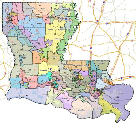 louisiana district map louisiana state representative district map map
