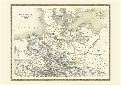 map northern germany vintage map of northern germany