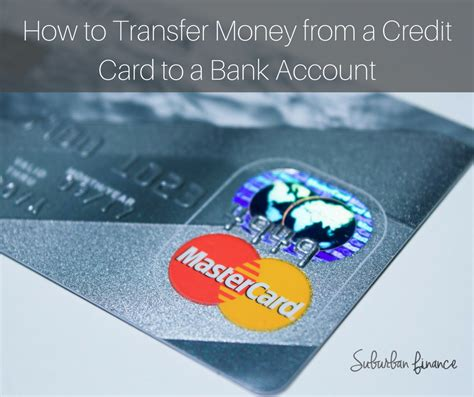 can i transfer money from bank to bank how to transfer money from a credit card to a bank account