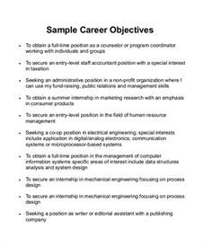 Resume Objective Statements by Sle Career Objective Statement 7 Exles In Word Pdf