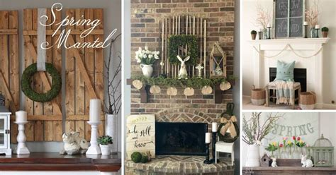 spring mantel decor ideas  brighten   space