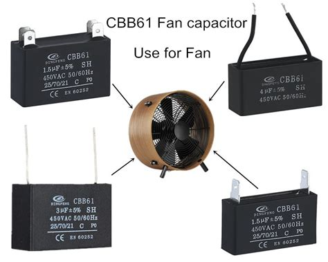 capacitor uses in fan 240v ac motor capacitor cbb61 fan pins ac motor running capacitor 250vac amanbo