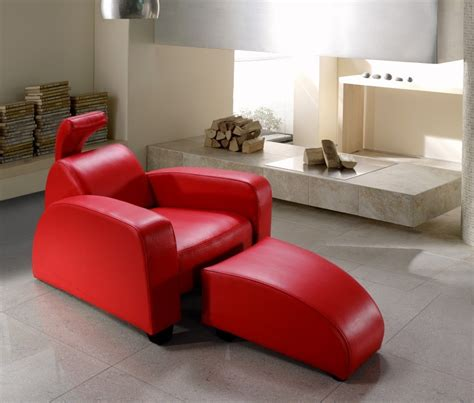 club chairs and ottomans rosso modern red leather lounge chair and ottoman