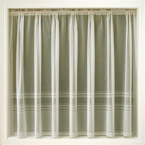 curtains by size cream ivory net curtain plain stripe hudson all sizes ebay