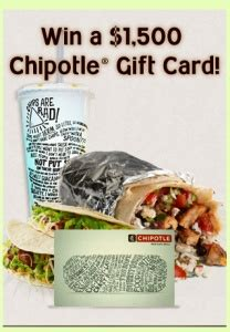 Chipotle Discount Gift Card - 17 best images about coupon discounts sweepstakes on pinterest home gift cards