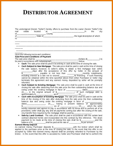 distributorship agreement template distribution agreement sle gtld world congress